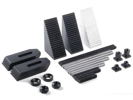 3013 Крепеж обрабатываемых деталей к столу (ступенчатые блоки, прихваты)